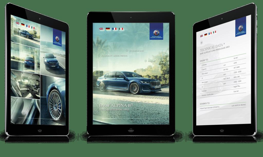 SPIEGLHOF media entwickelt und betreut die Messeapp von ALPINA Automobiles.