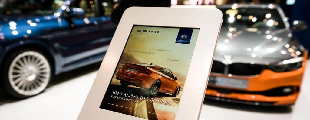 iOS Messeapp ALPINA BMW von SPIEGLHOF media