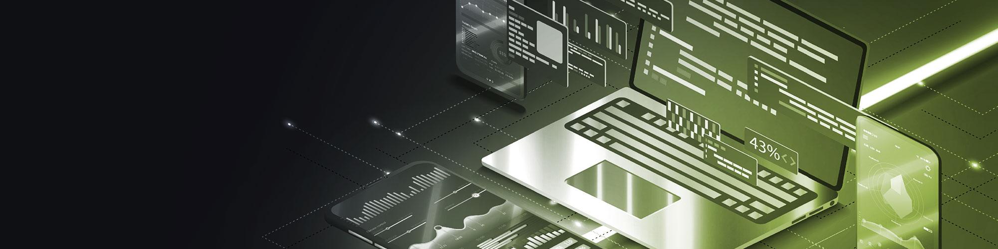 Diverse Endgeräte aus dem Webdesign